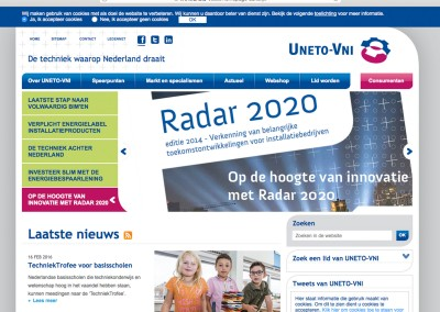 Corporate website (UNETO-VNI)