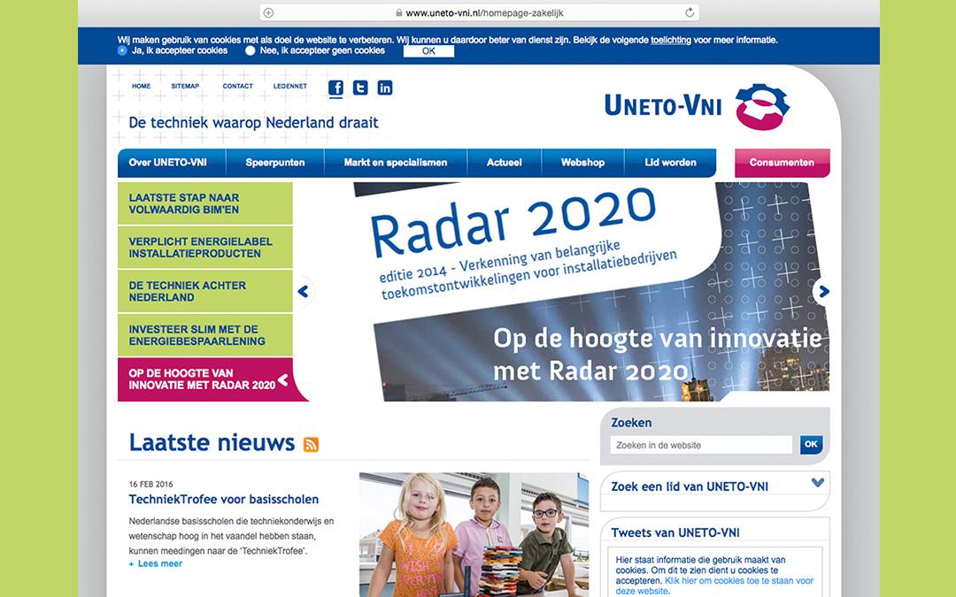 Website UNETO-VNI